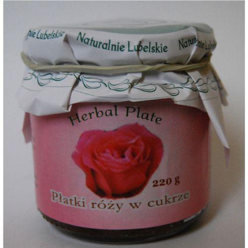 Płatki róży w cukrze- 220 g marki Herbasalin sp. z o. o.