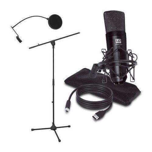 podcast 2 zestaw mikrofon pojemnościowy usb + statyw + pop filtr marki Ld systems
