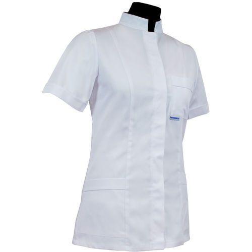 Bluza damska medyczna 010 - kołnierz stójka, zapięcie kryte