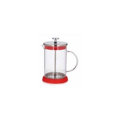 Zaparzacz szklany tłokowy arabica 800ml czerwony marki Florina