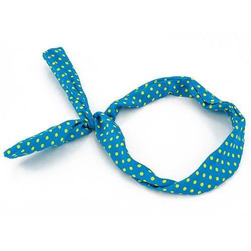 Opaska kropeczki niebieska - NIEBIESKA