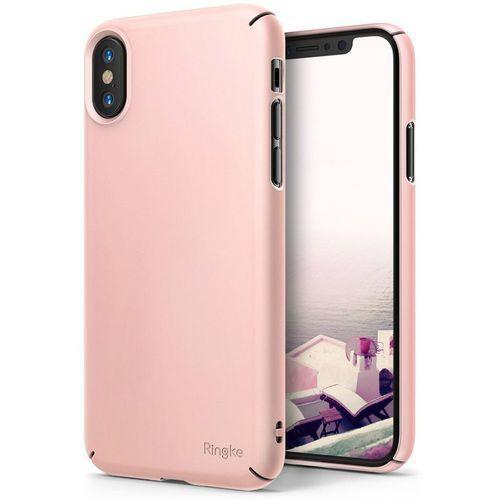 Ringke Etui slim iphone x peach pink (8809550345836)