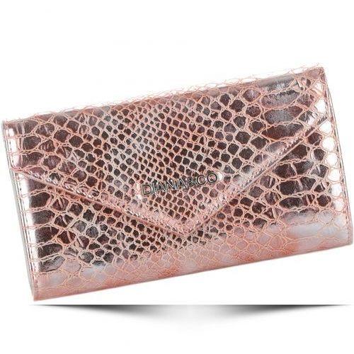 Diana&co Eleganckie portfele damskie firenze wzór węża rose gold (kolory)