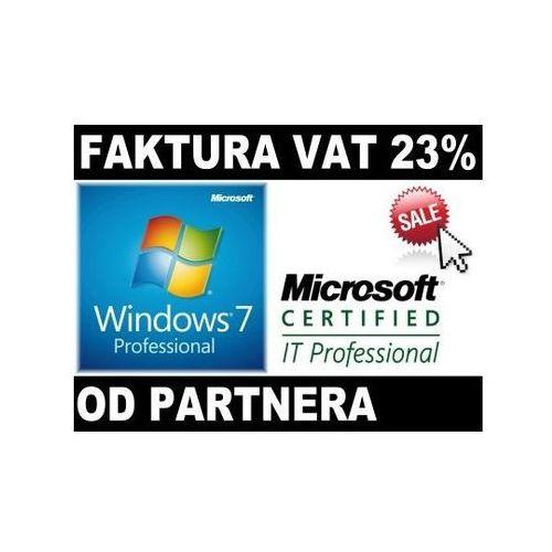 Microsoft Windows 7 Profesional PL COA od Partnera Microsoft