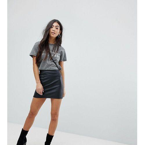 Asos design petite sculpt me leather look mini skirt - black marki Asos petite