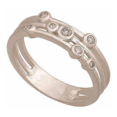 Pierścionek z białego złota z brylantami 24313