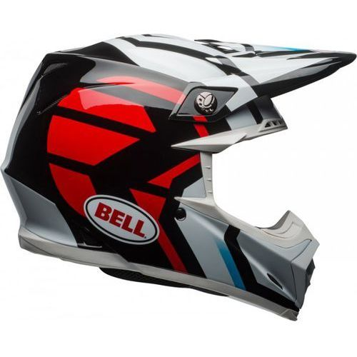 moto-9 district white/black/red kask off-road marki Bell