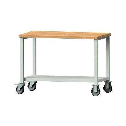 Anke werkbänke - anton kessel Kompaktowy stół warsztatowy, blat z litego drewna bukowego,szer. 1140 mm, z półką