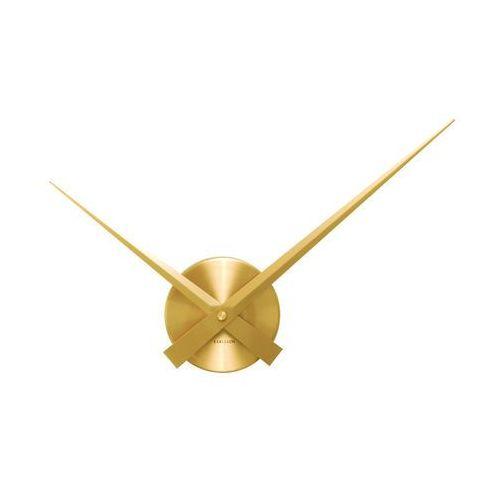 :: zegar ścienny little big time mini alu gold - złoty mini marki Karlsson