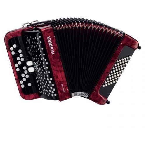 Hohner nova ii 48 akordeon guzikowy (czerwony)