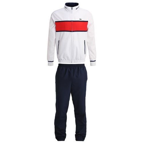 Lacoste Sport SET Dres white/etna red/navy blue