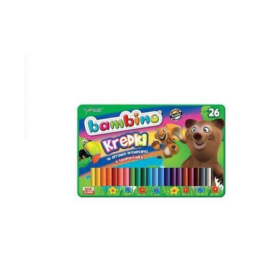 Kredki bambino drewniane 26 kolorów + temperówka w opakowaniu metalowym marki St. majewski