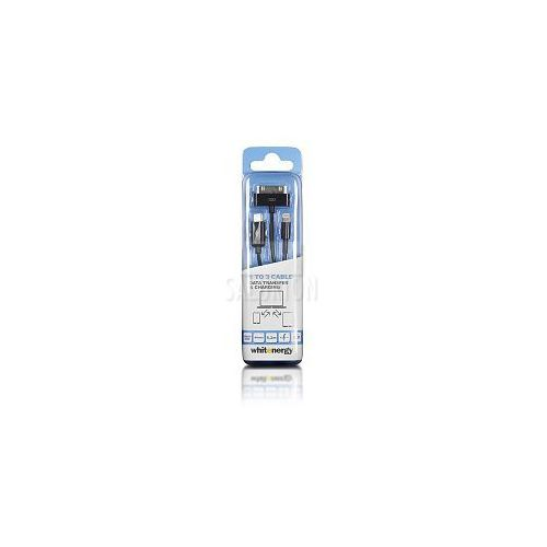 Kabel do przesyłu danych, wtyczka USB 2.0 na micro USB /iPhone4/iPhone5, czarny (kabel transmisyjny do telefonu)