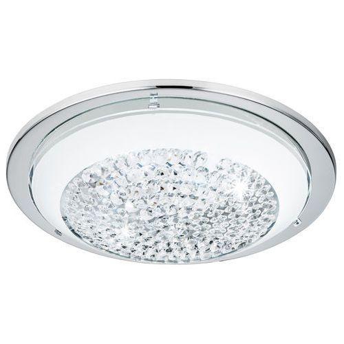 Plafon Eglo Acolla 95639 lampa sufitowa 1x8,2W LED chrom/biały, kolor biały,
