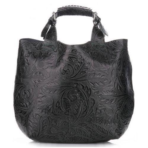 6ddf525cd1d5b Oryginalna Torebka Skórzana włoskiej marki Genuine Leather Butelkowa Zieleń  (kolory) 279