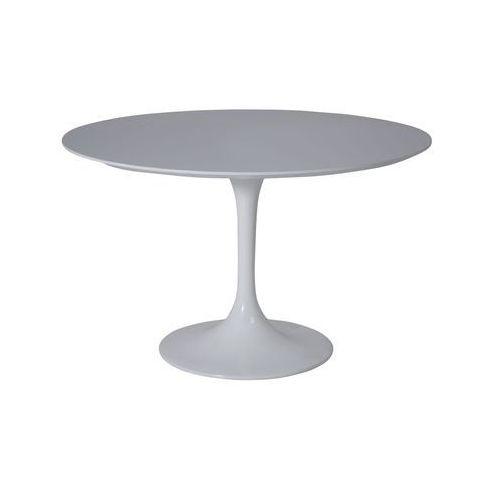 Kare Design Invitation Biały Stół Okrągły Lakierowany na Wysoki Połysk Ø 120 cm - 75407 - produkt dostępny w sfmeble.pl