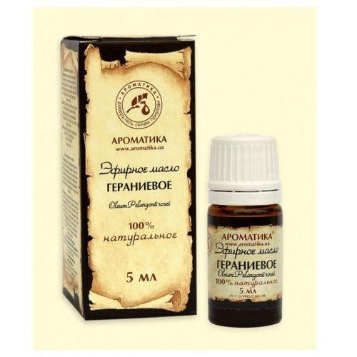 Eteryczny olejek geraniowy 5 ml. marki Aromatika