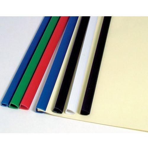 Listwy do oprawy dokumentów wsuwane z jedną zaokrągloną końcówką standard, czarne, 6 mm, 50 szt, 20 kart - Super Ceny - Rabaty - Autoryzowana dystrybucja - Szybka dostawa - Hurt