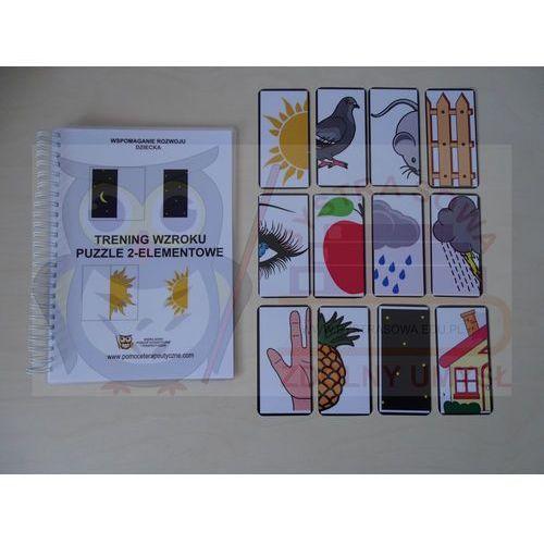 """Kreatywna książka """"Trening wzroku- puzzle 2 - elementowe"""""""