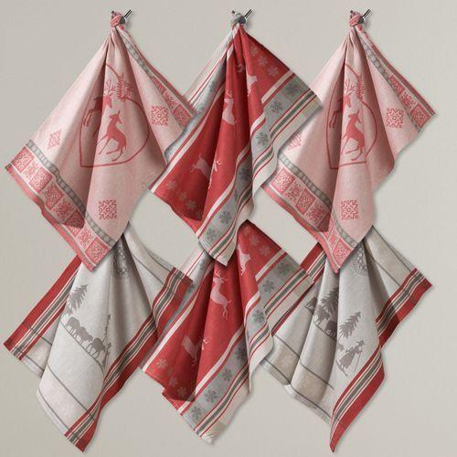 Ściereczki żakardowe, 100% bawełny, w szwajcarskim stylu (pakiet 6 szt.) marki La redoute interieurs