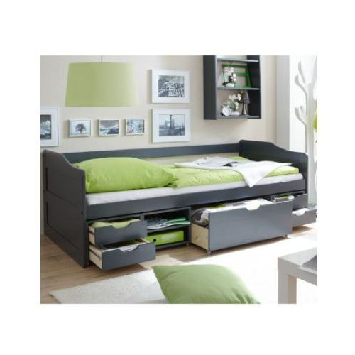 Ticaa kindermöbel Ticaa łóźko dziecięce z szufladkami marlies kolor szary