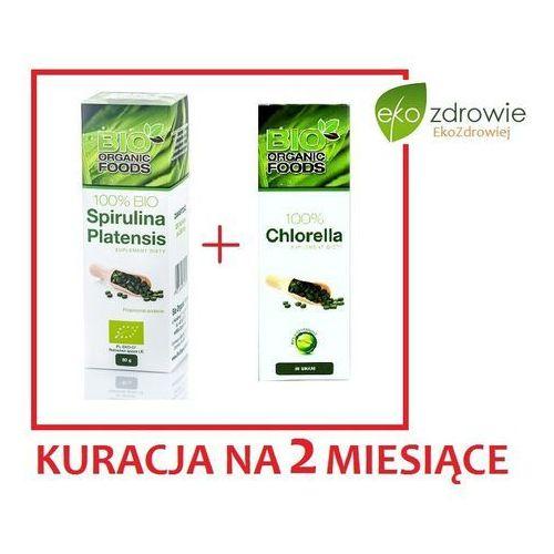 Zestaw bio spirulina + chlorella na 2-mce marki Bio organic foods