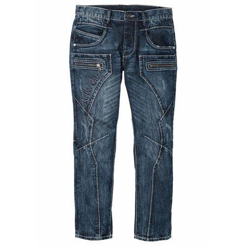 Dżinsy Regular Fit Straight bonprix niebieski, jeansy