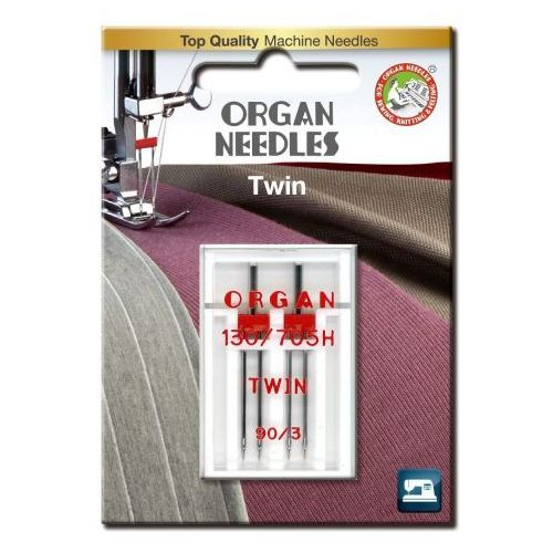 Organ Igła podwójna półpłaska 130/705h twin 90/3mm 2 szt.