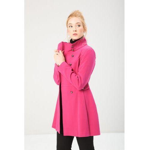 Płaszcz damski 11668_fuxia różowy, Fontana 2.0, 42-46