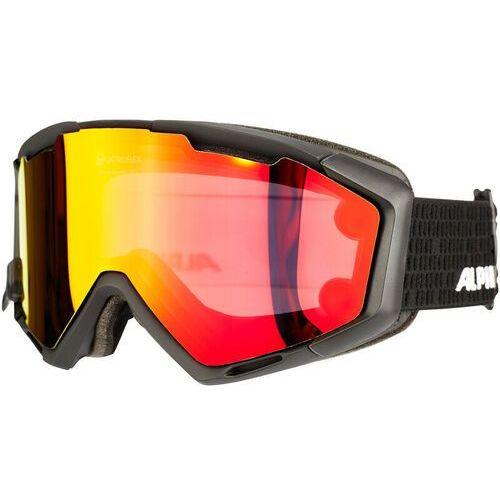Alpina Panoma Magnetic Q+SM S1+S3 Gogle czerwony/czarny 2017 Gogle narciarskie