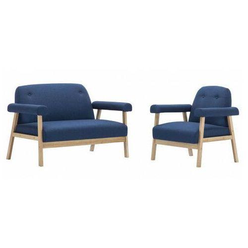 Elior Niebieski 3-osobowy zestaw wypoczynkowy w stylu vintage - eureka 4x