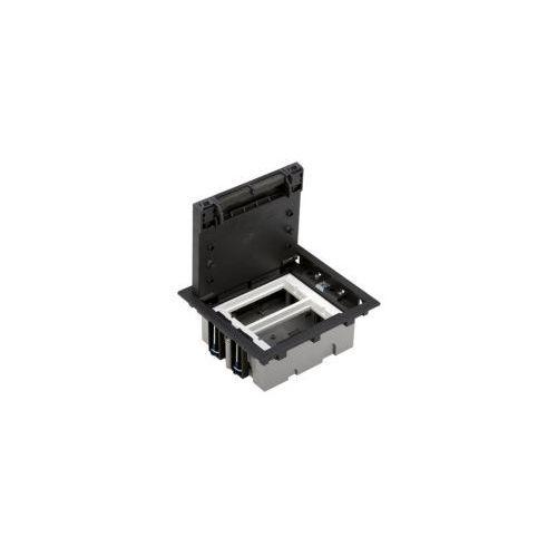 Puszka podłogowa 4 modułowa, SF270/11 + S66/9 + S66/9
