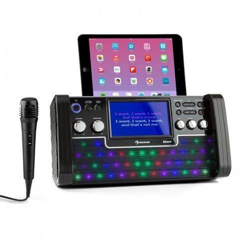 DiscoFever Zestaw karaoke Bluetooth LED Ekran TFT 7 cali CD USB czarny