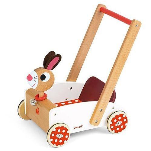 Szalony króliczek - pchacz, wózek, JND05997-Janod, chodziki dla dziecka - oferta [0572407c478585d0]