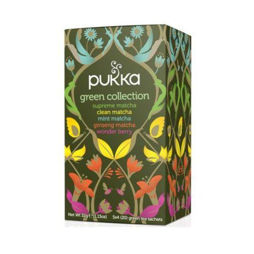 PUKKA 20x1,6g Green Collection Herbata naturalnie aromatyzowana z herbatą zieloną Bio