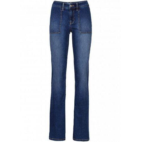 Dżinsy BOOTCUT  niebieski, spodnie damskie bonprix