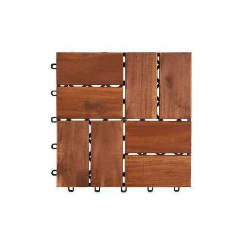 Deski tarasowe modułowe płytki 30x30cm akacja 8 klepek, marki Ogrody Leandro do zakupu w KochamOgrody.pl