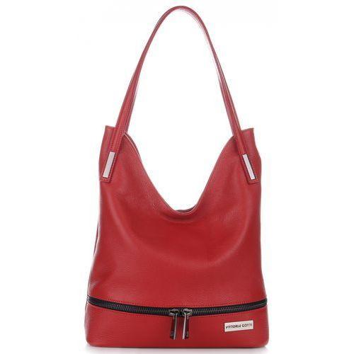84933d47bc559 Vittoria gotti Włoskie torebki ze skóry naturalnej renomowanej marki  czerwone (kolory) 269