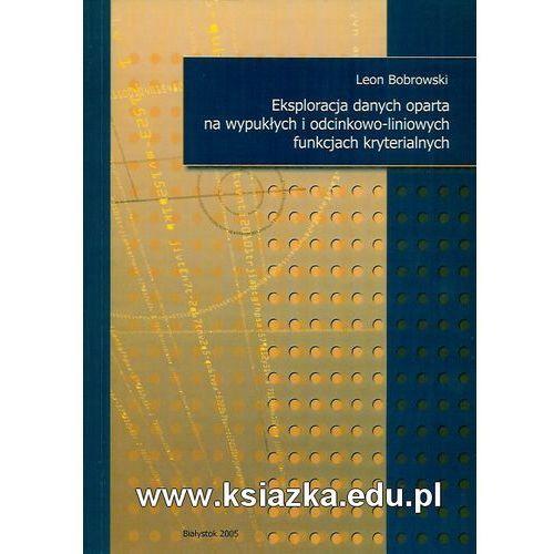 Eksploracja danych oparta na wypukłych i odcinkowo-liniowych funkcjach kryterialnych