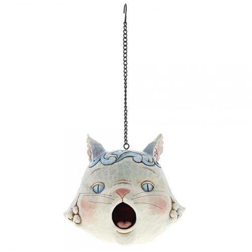 Kotek szara budka lęgowa kot grey cat birdhouse 6001602 królik vintage biały marki Jim shore