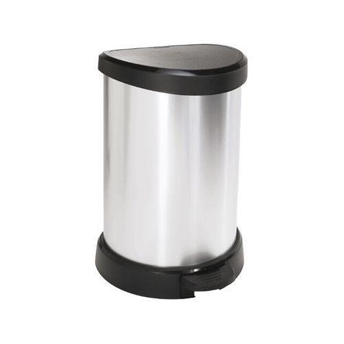 Kosz na śmieci metalizowany 20L czarny/srebrny metalizowany 169795 Curver - produkt z kategorii- kosze na śmieci
