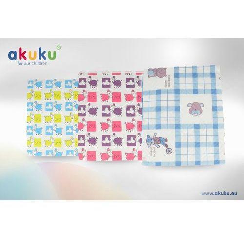 Akuku Podkład wielokrotnego użytku peva sowy niebiesko-różowe 55x70 cm a0254