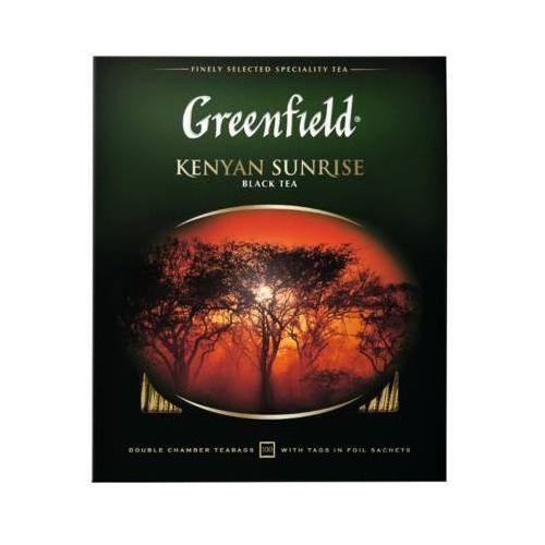 100x2g kenyan sunrise herbata czarna ekspresowa marki Greenfield