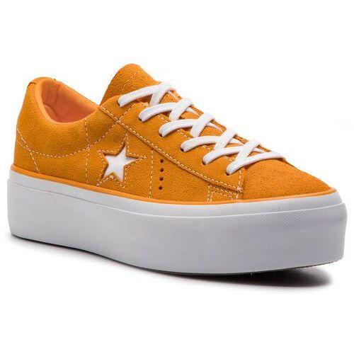 Tenisówki - one star platform ox 563487c field orange/white/white, Converse, 37-41
