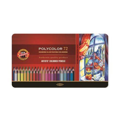 Koh-i-noor Kredki polycolor wodoodporne 72kol metal (8593539089629)