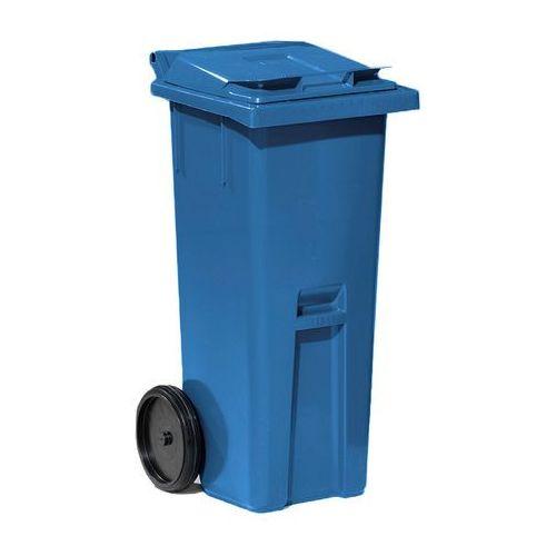 Niebieski kontener na odpadki o poj. 140 l - 480x540x1060mm marki Array