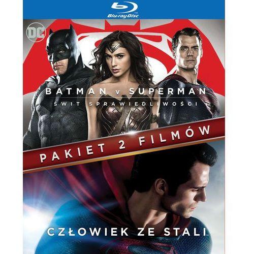 Pakiet 2 filmów: batman v superman: świt sprawiedliwości/ człowiek ze stali (blu-ray) - marki Zack snyder