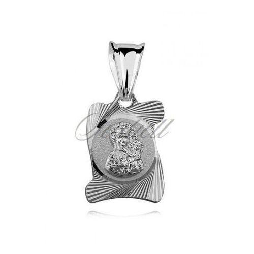 Silver (925) paper scroll pendant virgin mary / black madonna - md278 marki Sentiell