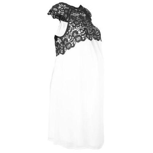 Bonprix Sukienka ciążowa na uroczyste okazje biel wełny