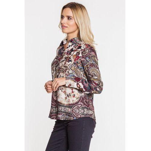 Stylowa koszula we wzory - Duet Woman, kolor beżowy